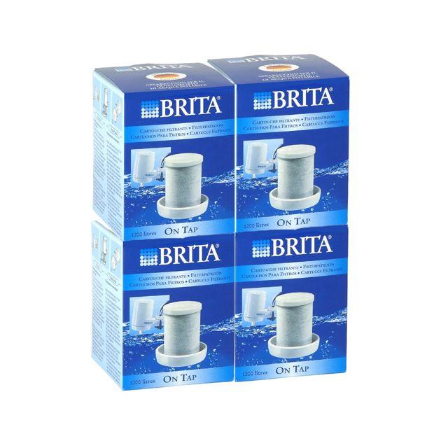 brita pack de 4 cartouches pour filtre sur robinet 1200l. Black Bedroom Furniture Sets. Home Design Ideas
