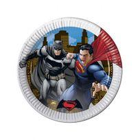 Unique Party - Assiettes Batman vs Superman x8