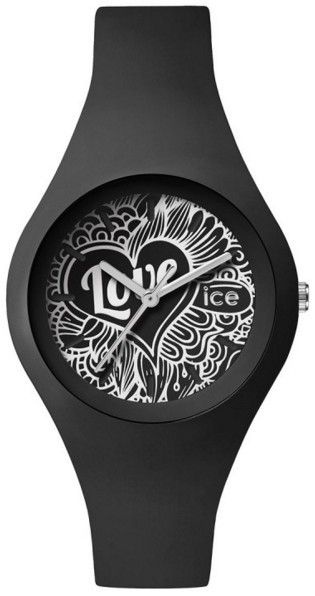 4717a8f0d41c7 Ice-Watch - Montre Ice Watch Ice Love Black Doodle Small Noir Silicone Lo.