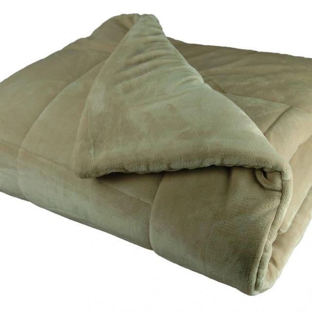couvre lit polaire pas cher 100POURCENTCOTON   Couvre lit matelassé microfibre polaire 220X240  couvre lit polaire pas cher