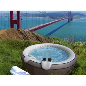 Mspa - VigiPiscine - Spa gonflable Elegance Light rond 4 places coloris gris