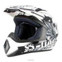 S-line - Casque moto cross enduro S813 graphic skeleton