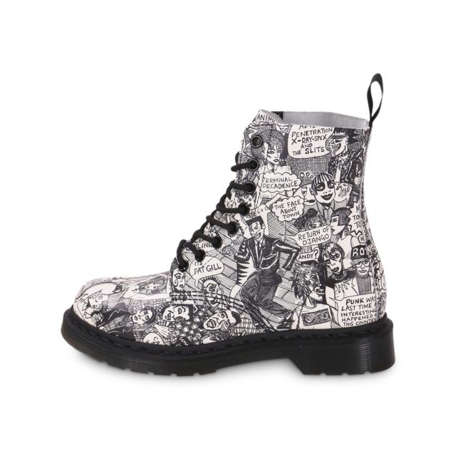 3f7c4d238d7 Dr. Martens - Dr Martens Pascal Mark Wigan Print - Boots Femme - pas ...