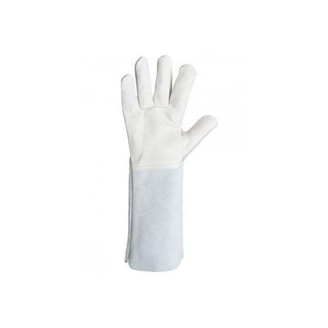 Gant cuir SINGER Taille 9 Sur-gant /électricien Manchette 10cm Velcro travaux /éxigeants ext/érieurs
