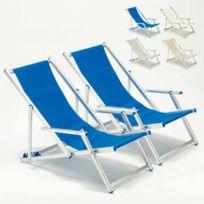 Transats chaises de plage avec accoudoir