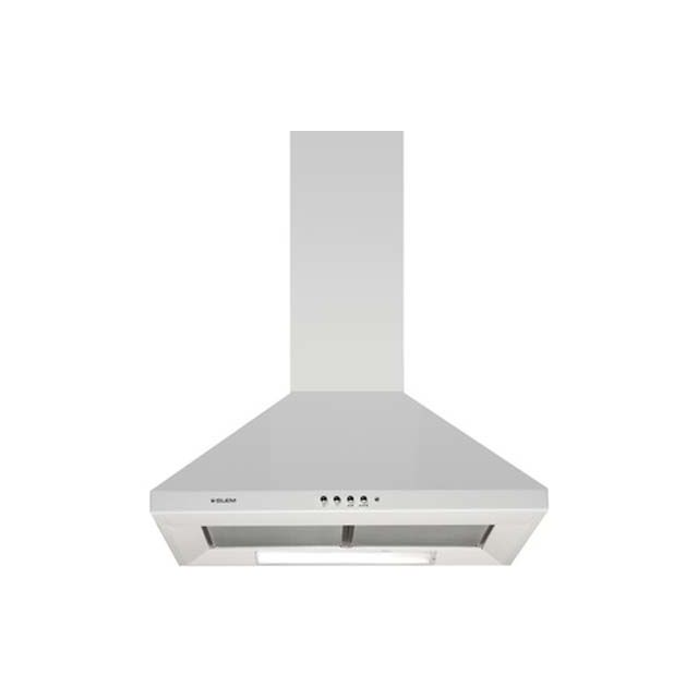 GLEM Hotte Décorative Murale PYRAMIDE GHP64WH GHP 64 WH, Blanc