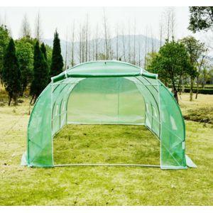 homcom serre de jardin tunnel zincage tente bache 6x3x2m. Black Bedroom Furniture Sets. Home Design Ideas