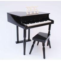 Mp - Piano à queue noir pour Enfant avec tabouret
