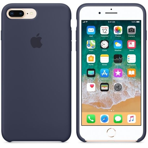 APPLE iPhone 8 Plus/7 Plus Silicone Case - Bleu nuit iPhone 8 Plus/7 Plus Silicone Case - Bleu nuitDoublure en microfibre - Finition lisse