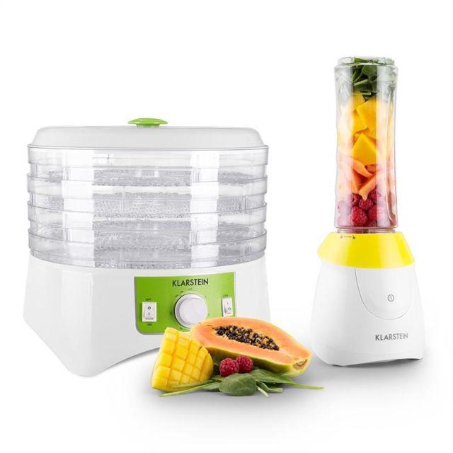 KLARSTEIN Paradise Set mini mixeur sur pied sans BPA & déshydrateur alimentaire