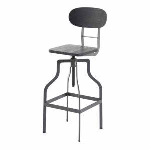 alin a atelier tabouret haut noir r glable en hauteur pas cher achat vente chaises. Black Bedroom Furniture Sets. Home Design Ideas