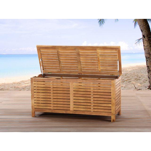 Beliani - Coffre en bois - coffre à coussins de jardin - Riviera