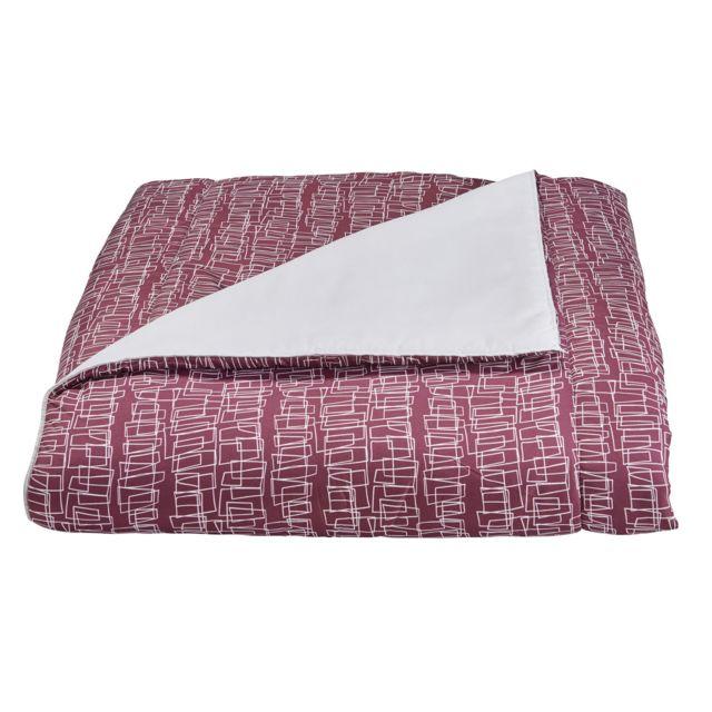 MARQUE GENERIQUE Couette BASIQUE IMPRIMEE en polyester Couette BASIQUE IMPRIMEE en polyester 240x220 cm - bordeaux