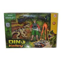 Chap Mei - Coffret Dino Valley : Dinosaure beige et figurine caméraman