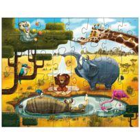 Haba - Puzzle 3 x 48 pièces : Animaux du Monde