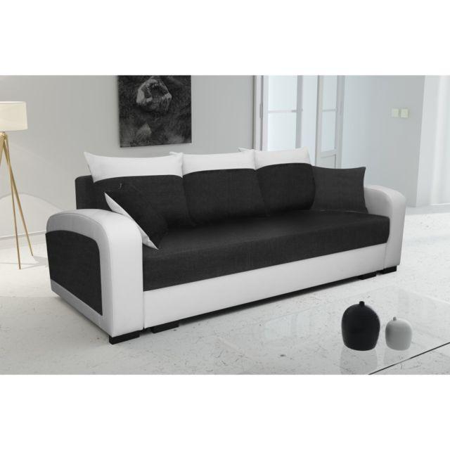 Rocambolesk Canapé Lola blanc noir sofa divan