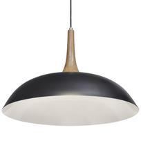 Justdeco - Superbe Suspension Lampe en bois noir d'acier neuf