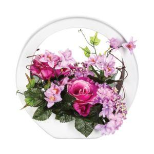 paris prix composition florale ronde rose pas cher achat vente petite d co d 39 exterieur. Black Bedroom Furniture Sets. Home Design Ideas