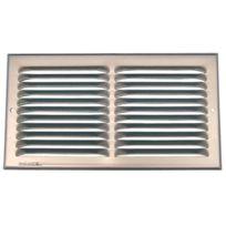 Anjos Ventilation - Grille D'AERATION Aluminium En Applique - Finition:Argent - Haut. mm:140 x 240 - Larg. mm:130 - Passage d'air cm²