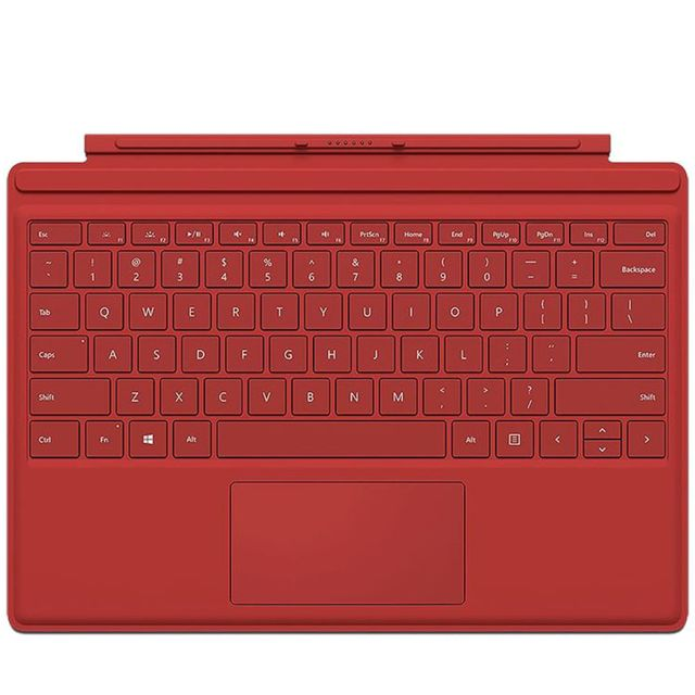 microsoft clavier tablette type cover surface pro 4 red pas cher achat vente clavier. Black Bedroom Furniture Sets. Home Design Ideas