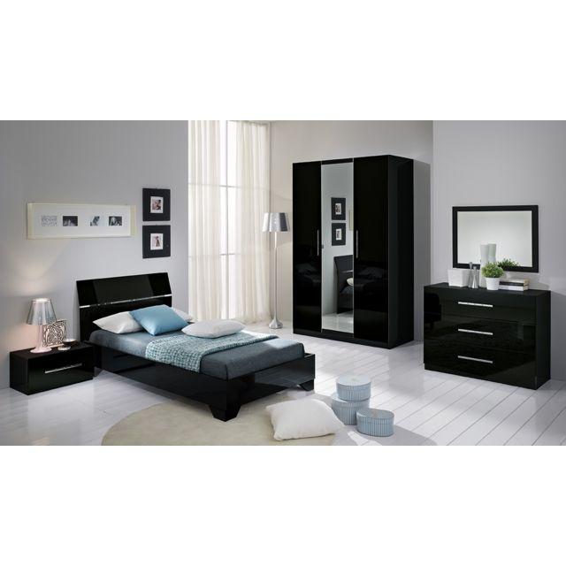 Decodesign - Chambre à coucher model Gloria noir armoire 3 portes ...