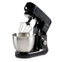 Domo - Robot de cuisine design noir - Mouvement planétaire - Bol inox brossé 4,5 Litres