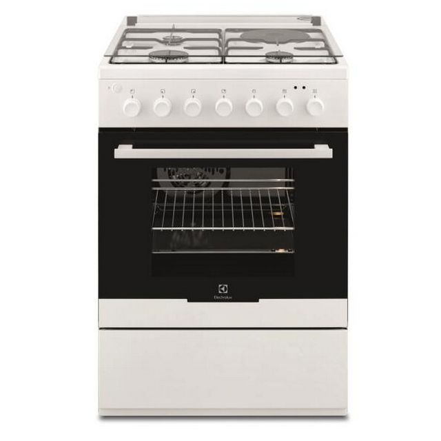 ELECTROLUX cuisinière mixte a 54l 4 feux blanc - ekm60398ow