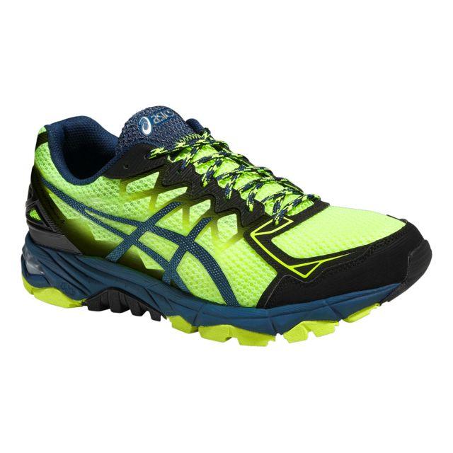 525689e5d50edb Asics - Gel Fuji Trabuco 4 Noire Et Jaune Fluo Chaussures de trail - pas  cher Achat / Vente Chaussures trail - RueDuCommerce