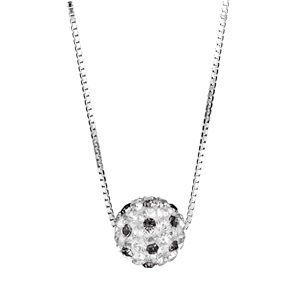 Collier boule strass pas cher