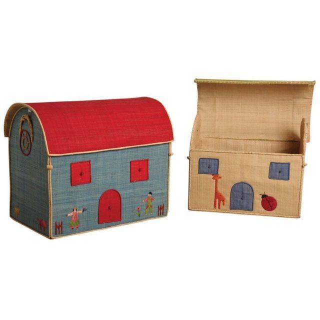 AUBRY GASPARD Coffres à jouets en rabane Lot de 2