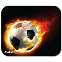 ALLSOP - TAPIS SOURIS BLAZING FOOTBALL ANTIDERAPANT ANTISTATIQUE EP 4MM