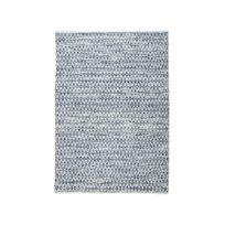 The Rug Republic - Tapis en laine et coton effet texturé à motif 160x230cm bleu/blanc Bedford