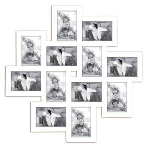 emde cadre photo multivues 12 vues en bois 65x65cm meli melo blanc 0cm x 0cm pas cher. Black Bedroom Furniture Sets. Home Design Ideas