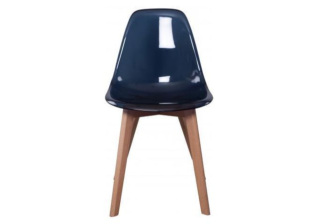 declikdeco chaise scandinave transparente noire fjord - Chaise Scandinave Transparente