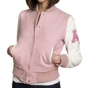 Veste teddy college femme pas cher