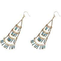 Nakamol - Promo Boucles d'oreilles Wex1314_LTBUGD - Boucles d'oreilles Turquoise Dorées Femme
