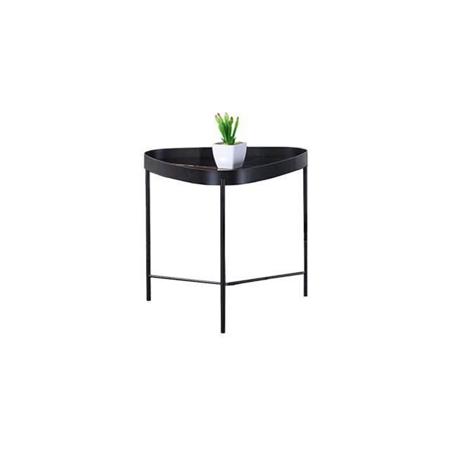 La Maison Du CanapÉ Table d'appoint mabre Pinto - Noir - Noir