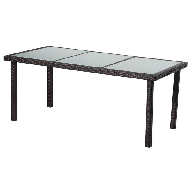 HABITAT ET JARDIN Table de jardin St Tropez 6 - Buffalo - 150 x 90 x 74 cm - Marron