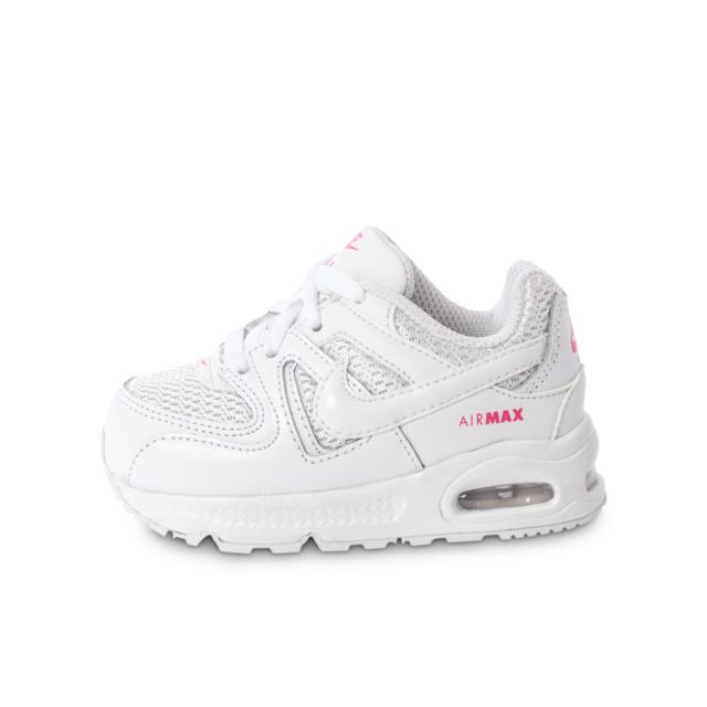 brand new e28d6 20c73 Cliquez pour zoomer Chaussures Nike Air Max 95 b茅b茅 blanche et bleue vue  ext茅rieure