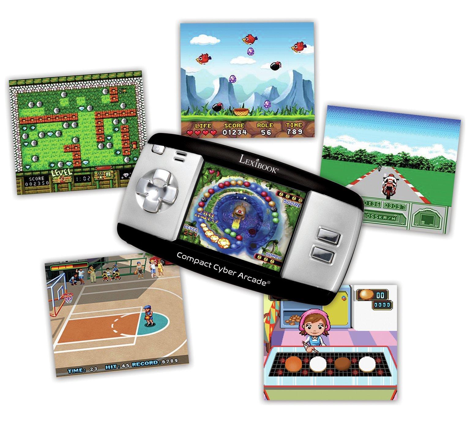 Lexibook compact cyber arcade 250 jeux jl2375 pas cher achat vente consoles et jeux - Console de jeux lexibook ...
