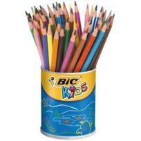 Bic Kids - crayon de couleur evolution assorti - pot de 60