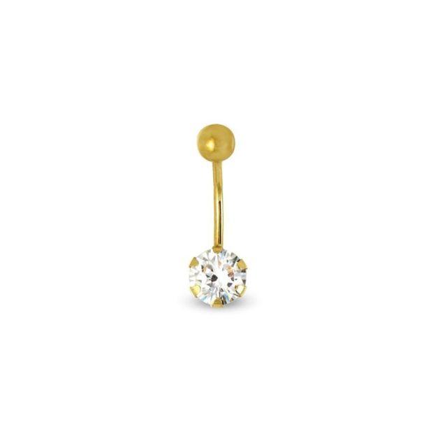 Tousmesbijoux Piercing nombril Or jaune 375/00 et zircon