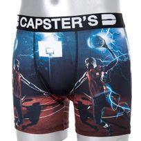 Capster'S Official - Boxer Homme Microfibre Bwa Bleu