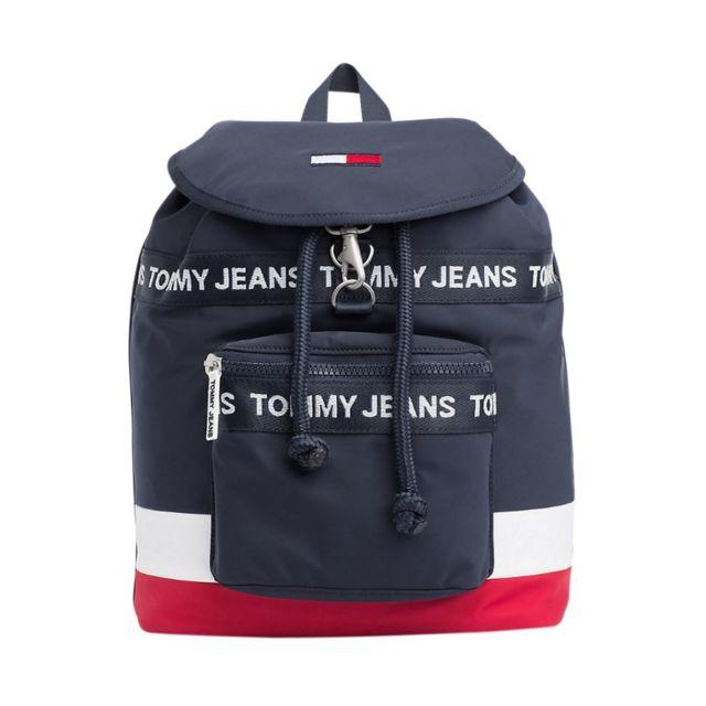 buy best cute size 40 Tommy hilfiger - Sac à dos avec logo Héritage Bleu Marine ...