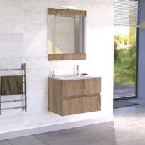 creazur meuble salle de bain simple vasque rosaly 70 cambrian oak