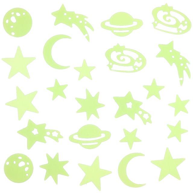 Lot d/'étoiles lune phosphorescente lumineuse la nuit pour chambre d/'enfant déco