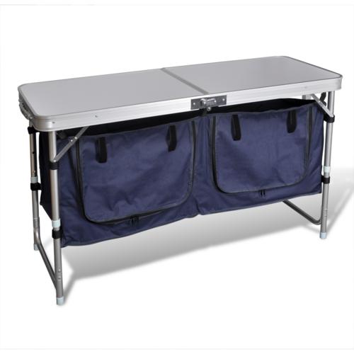 Vidaxl Placard de camping pliant avec cadre en aluminium