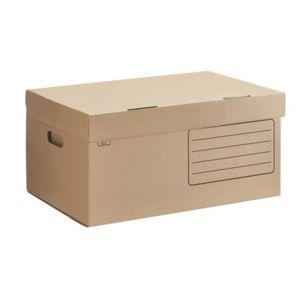 caisse archives carton h 27 x l 55 x p 36 cm brune lot de 10 pas cher achat vente bo tes d. Black Bedroom Furniture Sets. Home Design Ideas