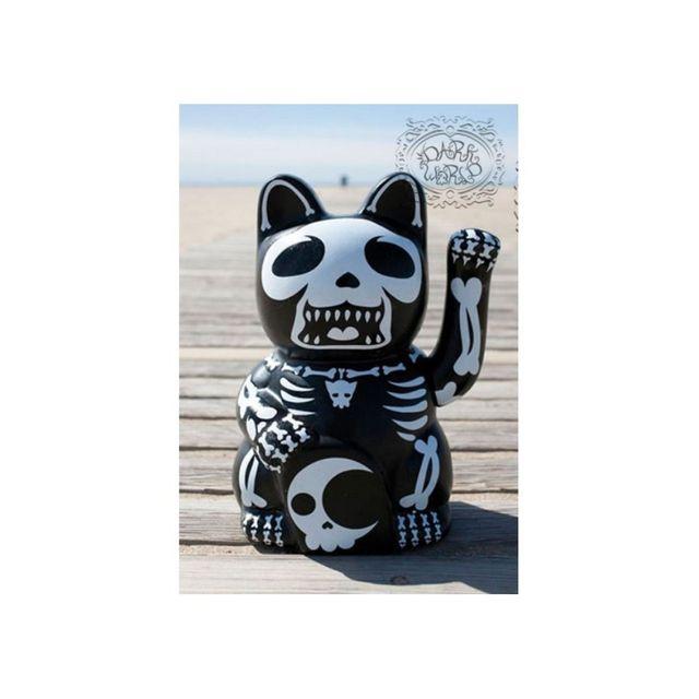 Universel statue chat chinois style muerte porte bonheur rock roll chez rue du commerce - Porte bonheur chinois chat ...