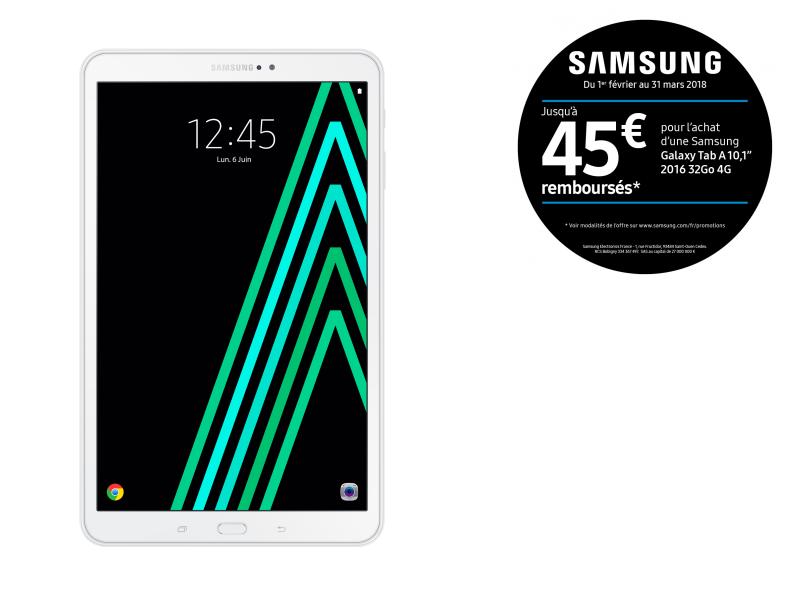Galaxy Tab A6 - 10,1'' - 32 Go - Blanc